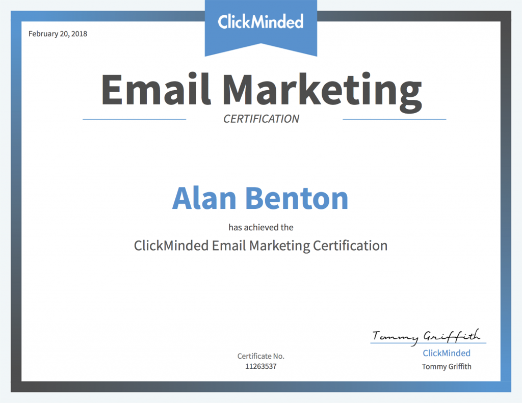 Email Marketing course Certification
