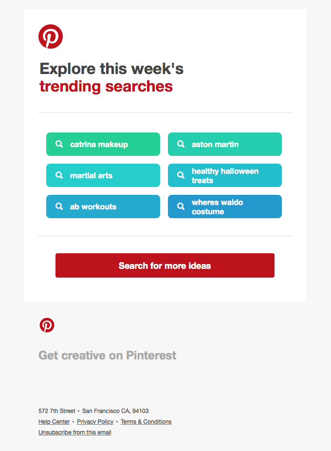email marketing engagement pinterest