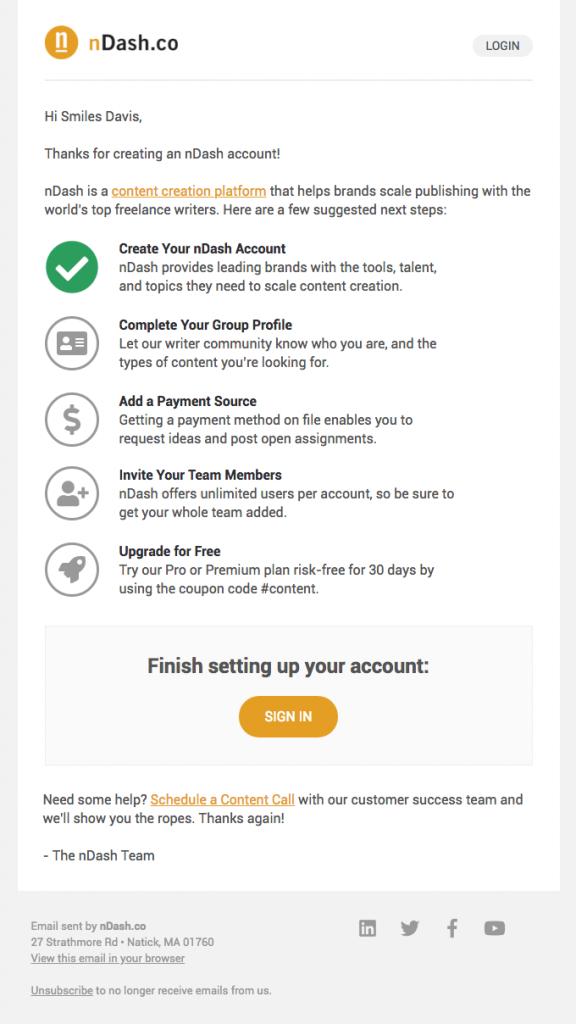 email marketing onboarding ndash