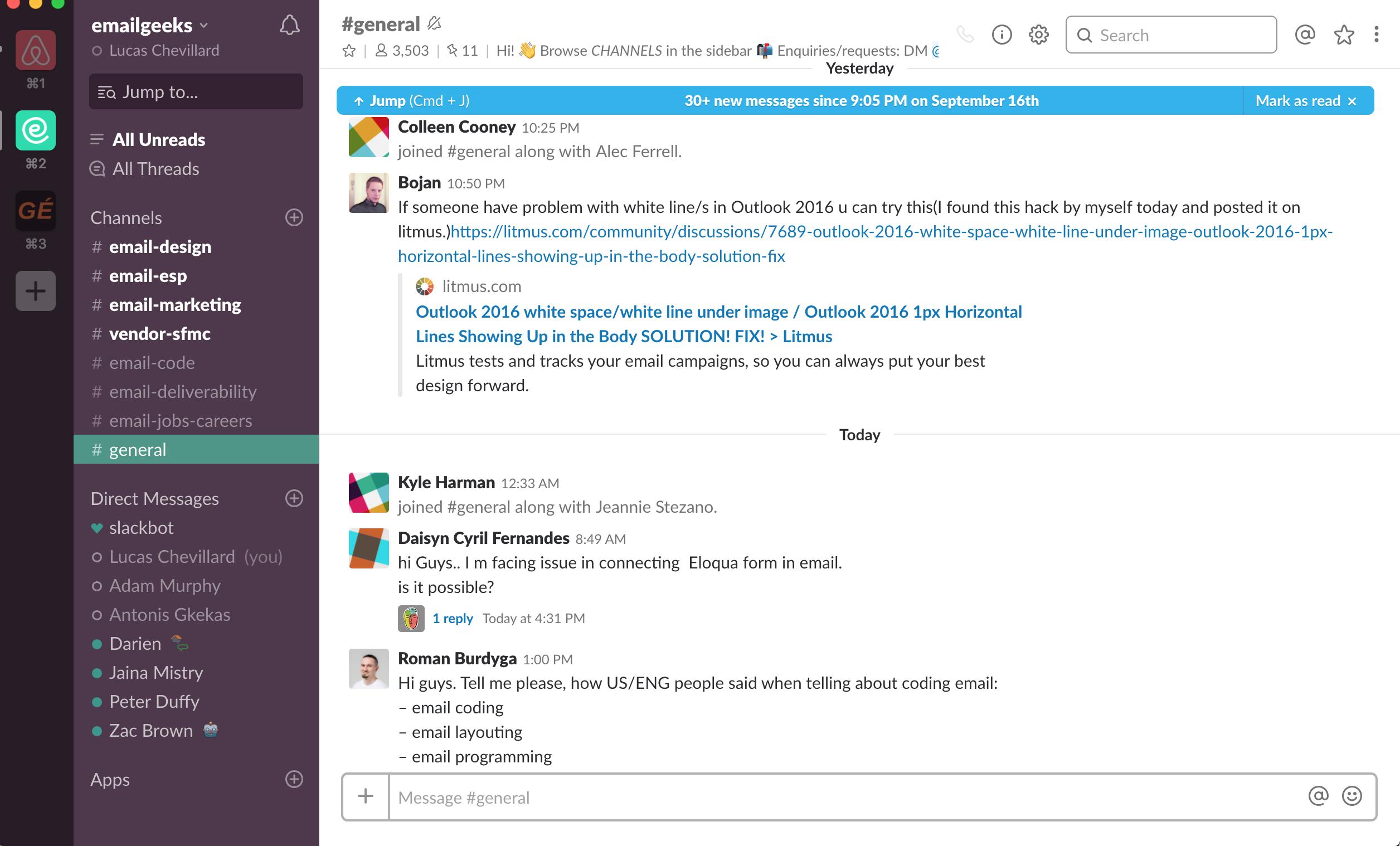 emailgeeks Slack community