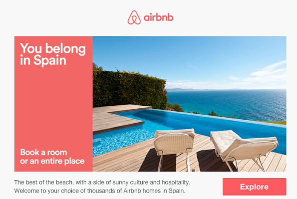 Airbnb Email Marketing examples and tools